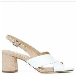 Naturalizer Azalea Slingback Shoe White Leather